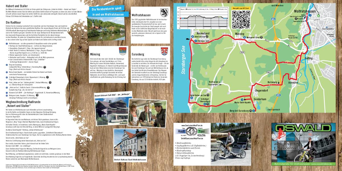 Rad-Rundfahrt zu Hubert und Staller-Drehorten
